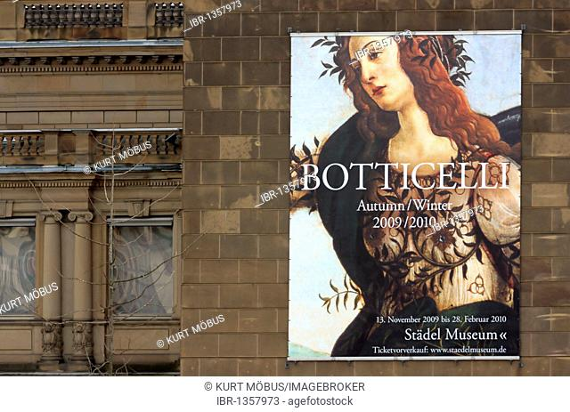 Botticelli exhibition Autumn Winter 2009 - 2010 in the Staedel Museum, Frankfurt am Main, Hesse, Germany, Europe