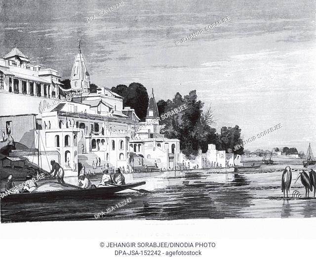 General Vies  Cawnpore Kanpur on Ganges ; Uttar Pradesh ; India