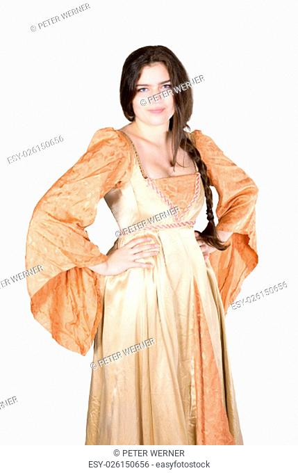 young woman dressed as princess