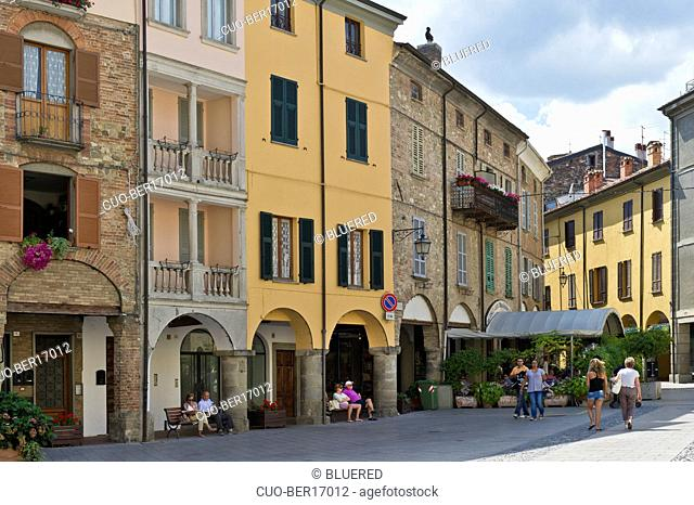 Duomo square, Bobbio, Emilia Romagna, Italy