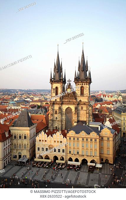 Church of Our Lady before Týn in the Old town (Stare Mesto), Prague, Czech Republic
