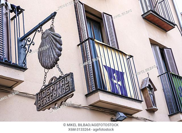 Pilgrims hostal. Estella, Navarre, Spain, Europe