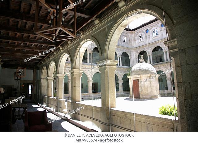 Monasterio benedictino de San Vicente do Pino, Monforte de Lemos, Galicia, Spain.Parador de Monforte