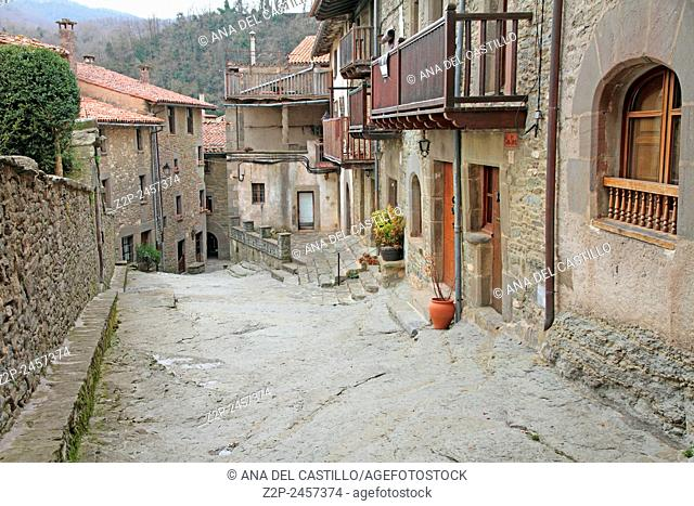 Medieval village Rupit Alt Urgell Pyrenees mountains in Catalonia Spain