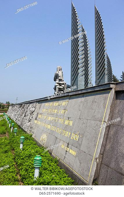 Vietnam, DMZ Area, Quang Tri Province, Ben Hai, war memorial at site of former north and south Vietnam border post