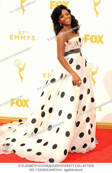 Teyonah Parris at arrivals for 67th Primetime Emmy Awards 2015 - Arrivals 1, The Microsoft Theater (formerly Nokia Theatre L.A