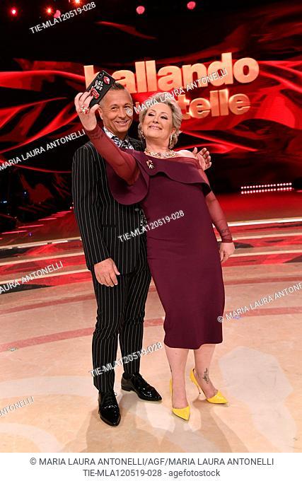 Paolo Belli, Carolyn Smith at the tv show Ballando con le setelle (Dancing with the stars) Rome, ITALY-11-05-2019