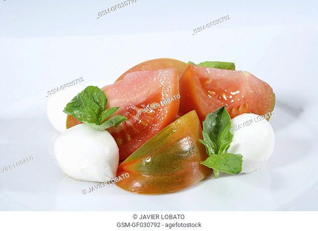 Tomato and mozarella bouquet