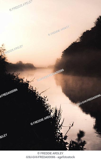 Mist on River at Sunrise