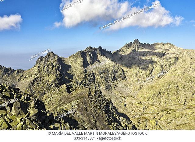 Almanzor peak from The Morezon in the Sierra de Gredos. Avila. Spain