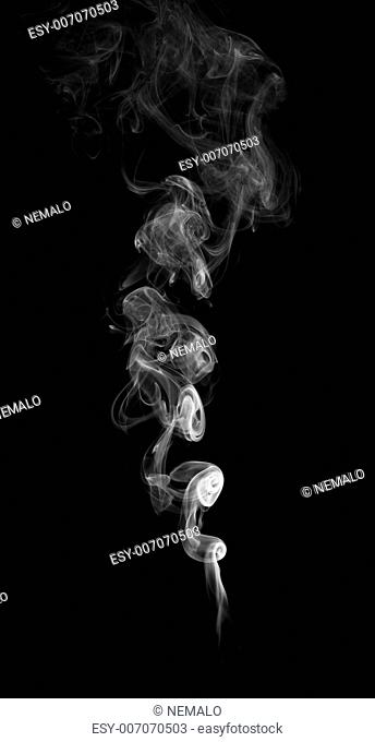 Abstract Smoke isolated on a black background