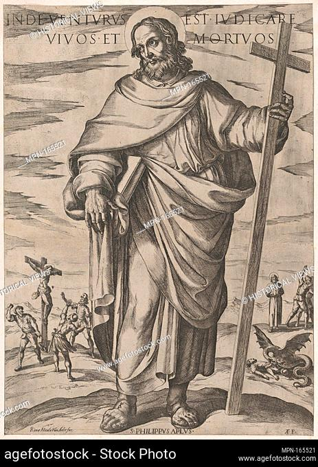 St. Philip, from 'Christ, Mary and the Apostles'. Artist: Antonio Tempesta (Italian, Florence 1555-1630 Rome); Publisher: Nicolaus van Aelst (Flemish