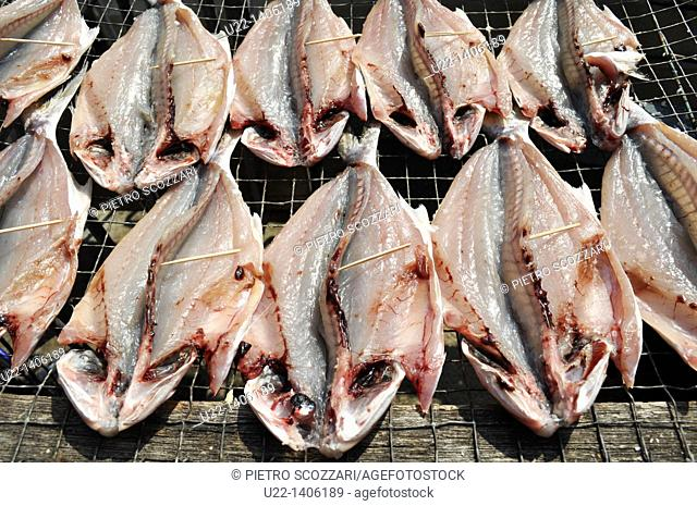 Hong Kong: drying fish at Tai O village, on Lantau Island