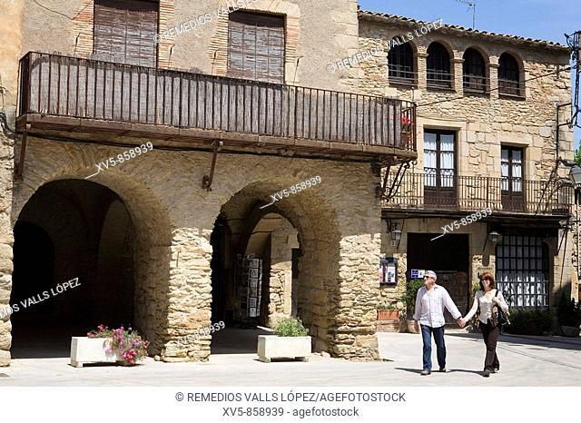 Spain. Cataluña. Girona. Costa Brava. Baix Empordà. peratallada, Medieval town