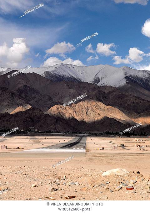 Airport runway , Leh , Ladakh , Jammu and Kashmir, India