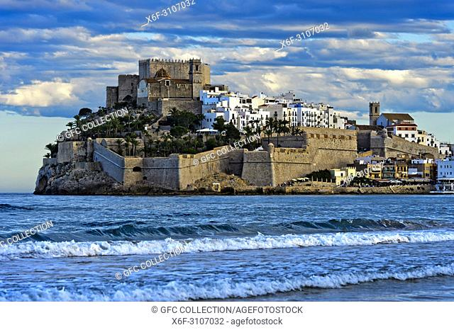 Peníscola Castle, Peníscola, Costa del Azahar, Province of Castellon, Spain