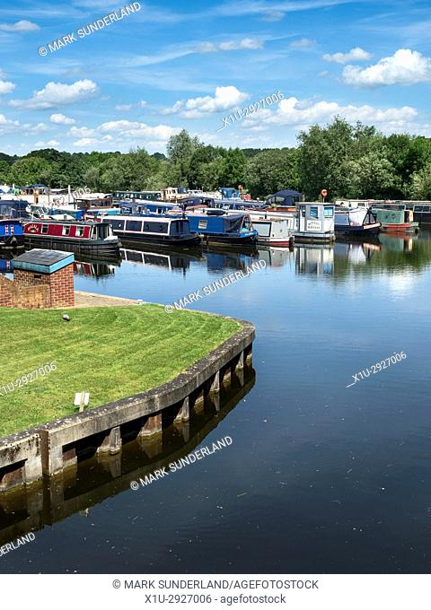 Ripon Marina on the Ripon Canal near Ripon Racecourse Ripon North Yorkshire England
