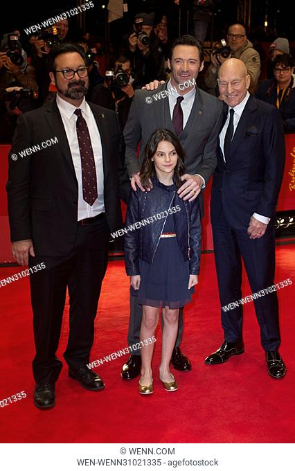 """Director and cast attend the premiere for """"""""Logan"""""""" at the 67th International Berlin Film Festival (Berlinale) Featuring: James Mangold, Dafne Keen"""