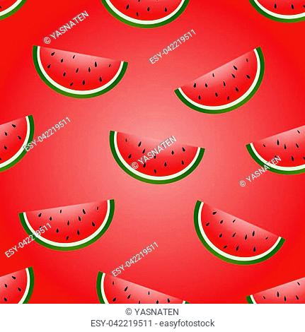 Seamless vector watermelon hand drawing imitation background design