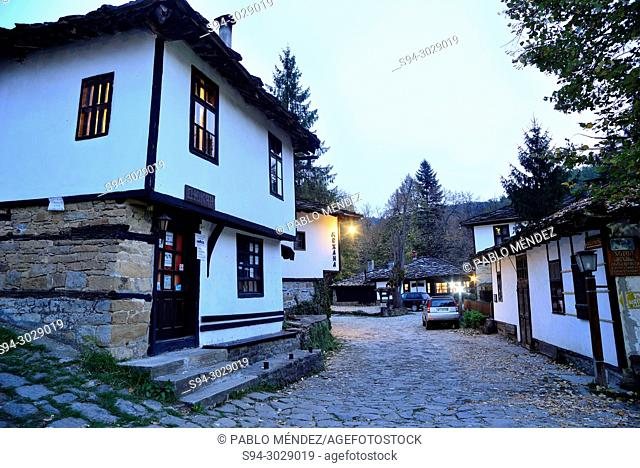 Traditional white houses of Bozhentsi, Bulgaria