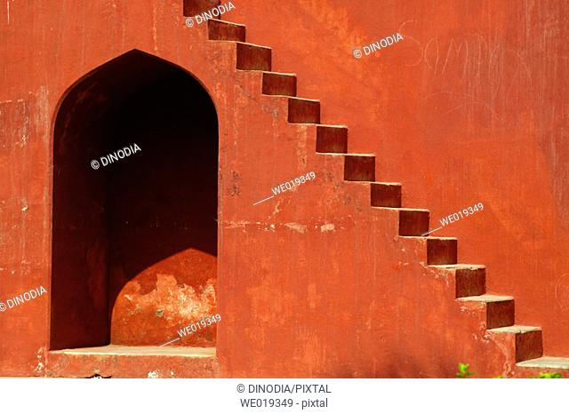 Steps of Jantar Mantar (1725 A.D.), New Delhi, India