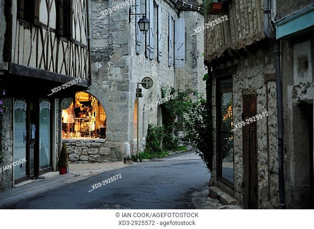 street scene, Issigeac, Dordogne Dpartment, NewAquitaine, France
