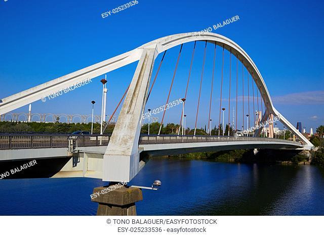 Seville Puente de la Barqueta bridge Sevilla Andalusia spain