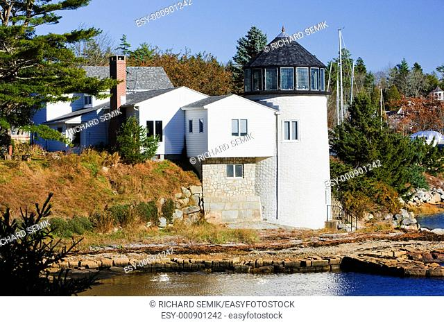 lighthouse, First Light Bed Breakfast, Maine, USA