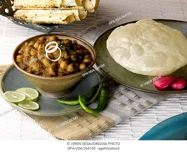 Indian food chola with bhatura, India, Asia