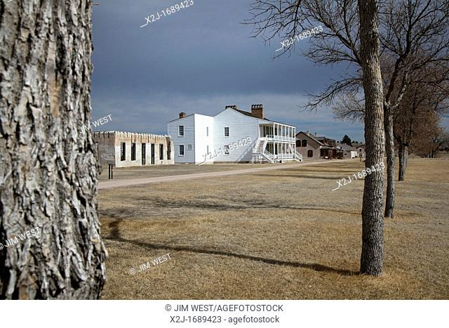 Fort Laramie, Wyoming - The bachelor officers' quarters, known as 'Old Bedlam' at Fort Laramie National Historic Site  The U S  Army post protected trappers