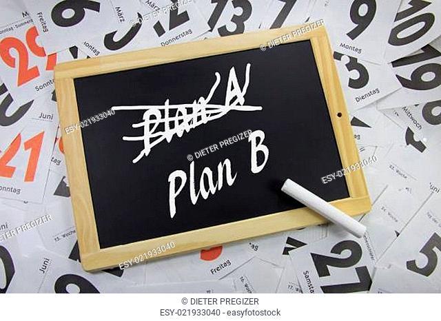 Planänderung, Plan A, Plan B