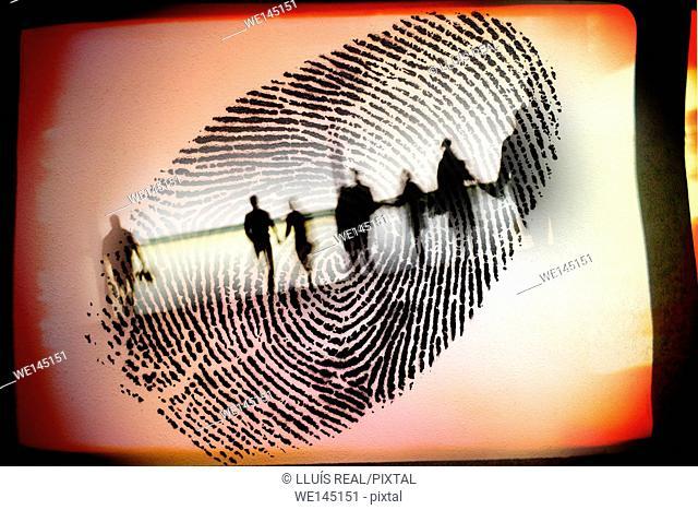 huella dactilar, dedo, fingerprint