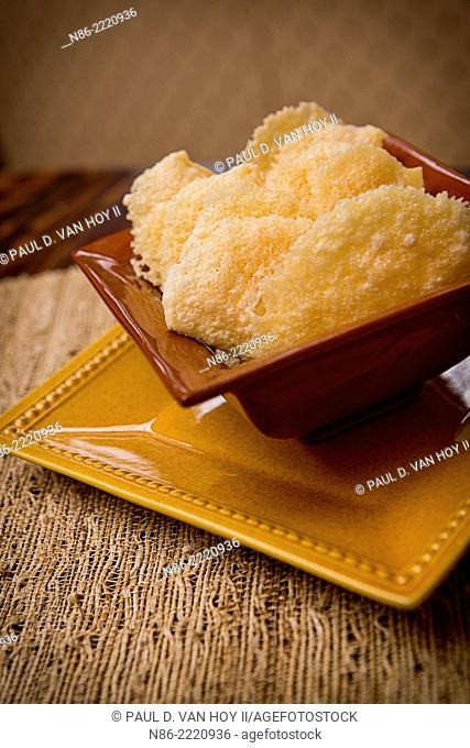 parmesan cheese rind puffs - appetizer snack