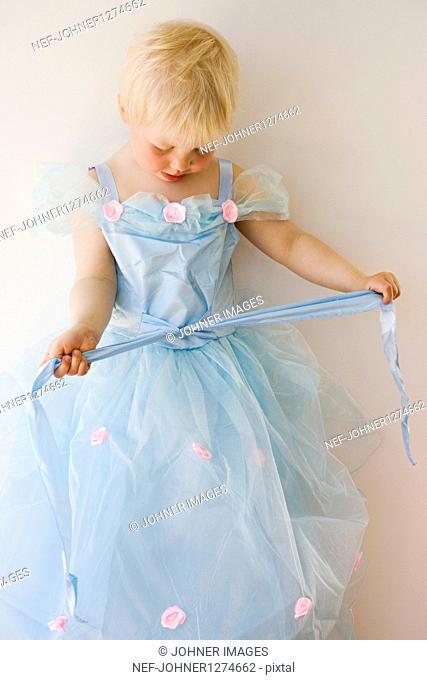 Girl in beautiful tulle dress