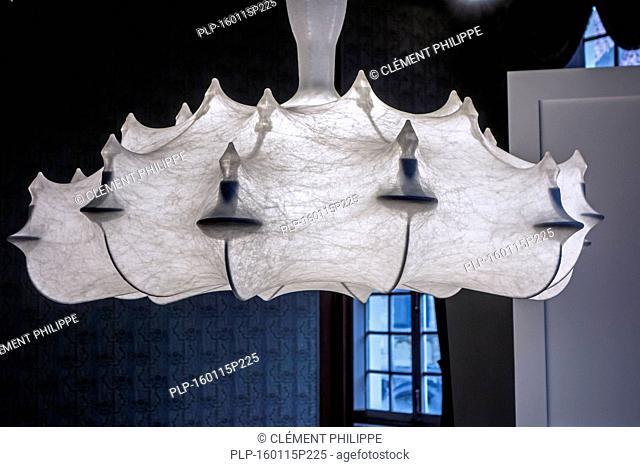 Contemporary chandelier in the Design Museum Gent in the city Ghent, East Flanders, Belgium