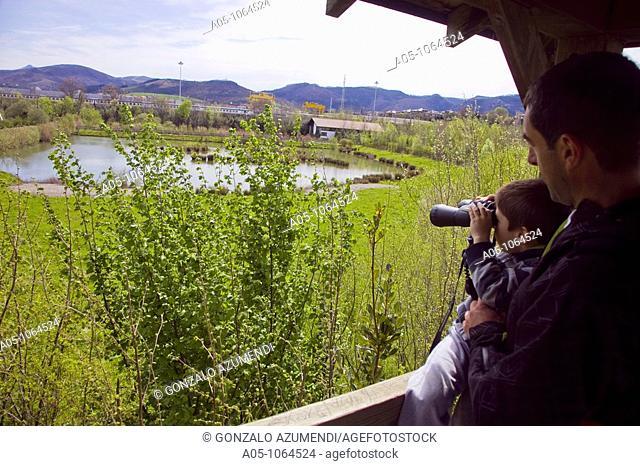 Ecological Park Plaiaundi. Irun. Comarca Bidasoa.Guipuzcoa. Basque Country. Spain