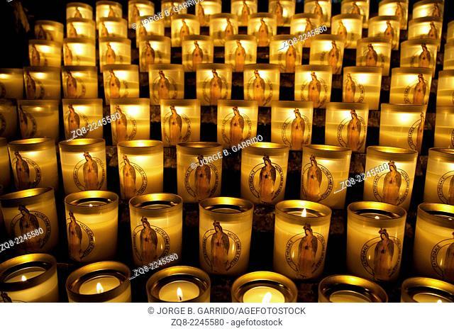 Candles in Notre-Dame de Paris