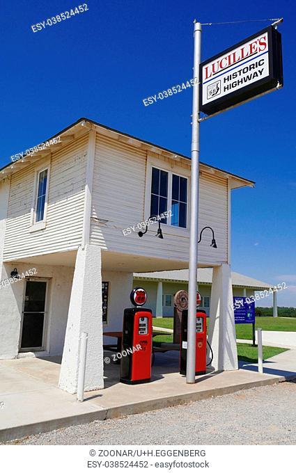 Historic Gas Station,Hydro,Oklahoma,Route 66