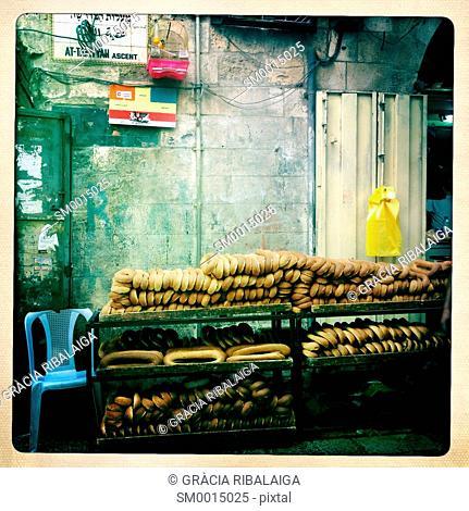 Food for sale on the street. Jerusalem, Israel