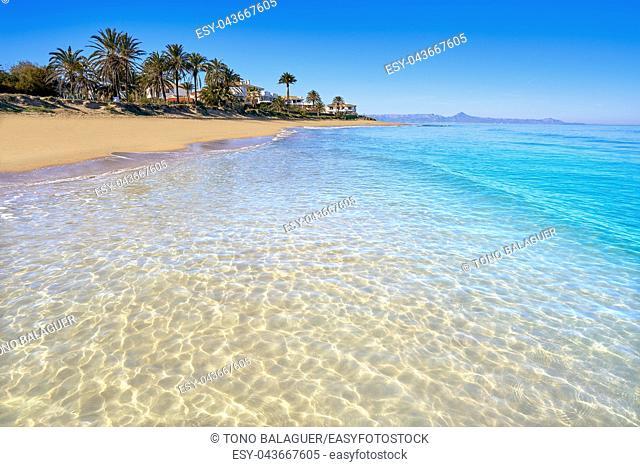 Denia las Marinas les Bovetes beach in Alicante of Spain