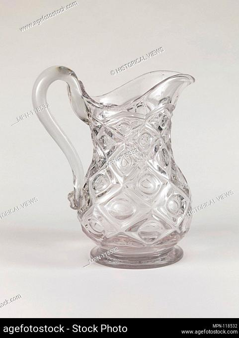 Water pitcher. Date: 1850-70; Geography: Probably made in Pittsburgh, Pennsylvania, United States; Culture: American; Medium: Pressed glass