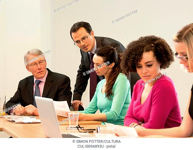 Office colleagues in meeting
