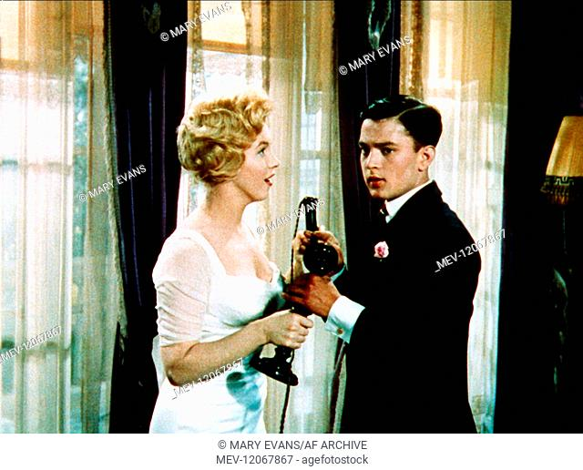 Marilyn Monroe & Jeremy Spenser Characters: Elsie Marina, King Nicolas Film: The Prince And The Showgirl (USA/UK 1957) Director: Laurence Olivier 13 June 1957