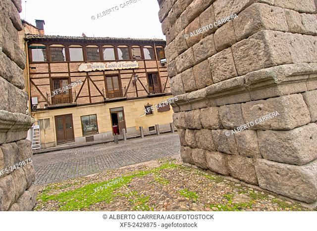 Roman Aqueduct of Segovia, World Monument Fund, Segovia, World Heritage Site UNESCO, Castilla y León, Spain, Europe