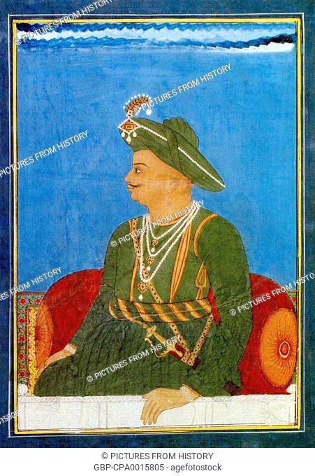 India: Tipu Sultan, ruler of the Kingdom of Mysore (r. 1782-1799)