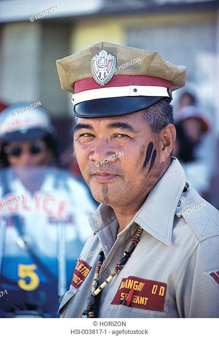 Portrait of a policeman in Philippines