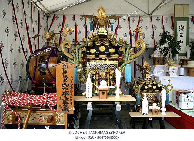 Matsuri Shrine festival, Asakusa Sensoji Temple Shrine, Tokyo, Japan, Asia
