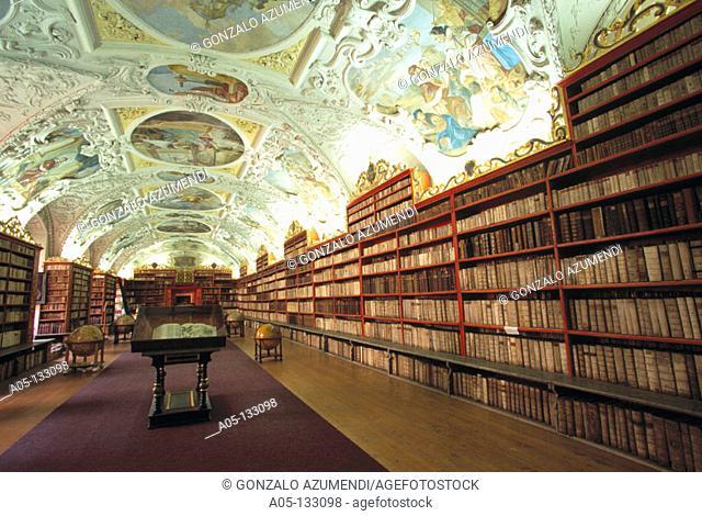 Philosophical Hall in the Strahov Library. Strahov Monastery. Prague. Czech Republic