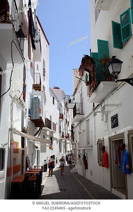 Cala la Virgen Shopping Lanes in Ibiza Old Town - Ibiza