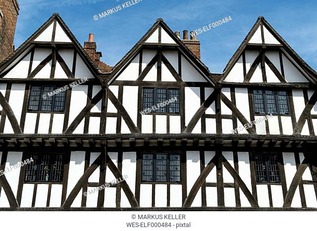 Great Britain, England, Lincolnshire, Lincoln, old town, half-timbered houses
